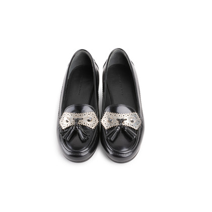 Authentic Second Hand Balenciaga Metallic Stud Tassel Loafers (PSS-A02-00001)