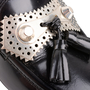 Authentic Second Hand Balenciaga Metallic Stud Tassel Loafers (PSS-A02-00001) - Thumbnail 6