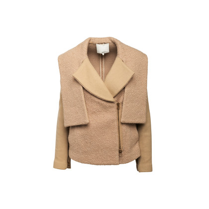 Authentic Second Hand 3.1 Phillip Lim Camel Peacoat with Removable Sleeves (PSS-A02-00013)