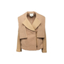 Authentic Second Hand 3.1 Phillip Lim Camel Peacoat with Removable Sleeves (PSS-A02-00013) - Thumbnail 0