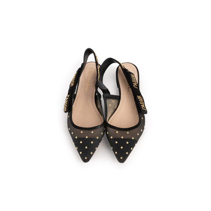 Authentic Second Hand Christian Dior J'Adior Dotted Swiss Flats (PSS-990-00141)