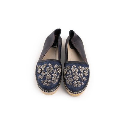 Authentic Second Hand Christian Dior Riveria Embellished Espadrilles (PSS-990-00142)