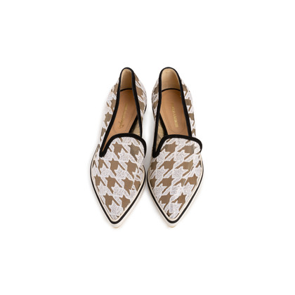 Authentic Second Hand Nicholas Kirkwood Alona Houndstooth Lace Loafers (PSS-990-00154)