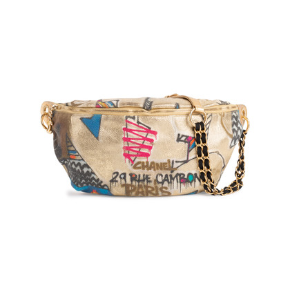 Authentic Second Hand Chanel Graffiti Printed Waist Bag (PSS-097-00856)