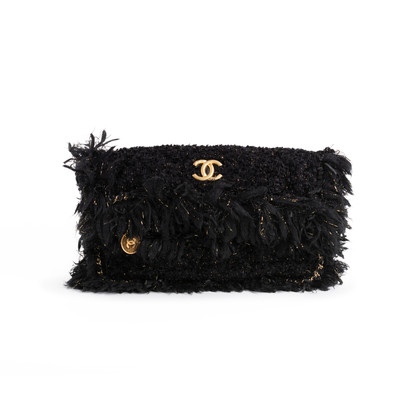 Authentic Second Hand Chanel Tweed Foldover Clutch (PSS-097-00857)