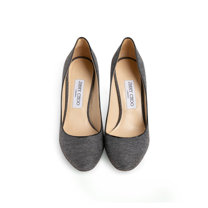 Authentic Second Hand Jimmy Choo Wool Gilbert Pumps (PSS-097-00863)
