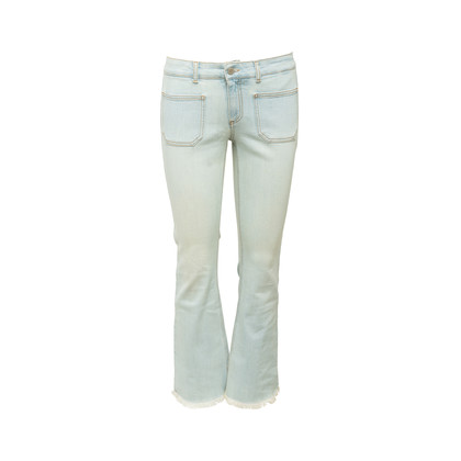 Authentic Second Hand Stella McCartney Frayed Denim Jeans (PSS-097-00885)