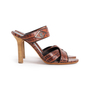 Authentic Second Hand Céline Croc Embossed Sandals (PSS-A06-00002) - Thumbnail 1