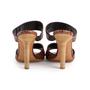 Authentic Second Hand Céline Croc Embossed Sandals (PSS-A06-00002) - Thumbnail 2