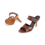 Authentic Second Hand Céline Croc Embossed Sandals (PSS-A06-00002) - Thumbnail 4