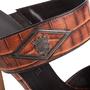Authentic Second Hand Céline Croc Embossed Sandals (PSS-A06-00002) - Thumbnail 6