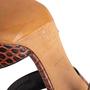 Authentic Second Hand Céline Croc Embossed Sandals (PSS-A06-00002) - Thumbnail 7
