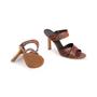 Authentic Second Hand Céline Croc Embossed Sandals (PSS-A06-00002) - Thumbnail 5