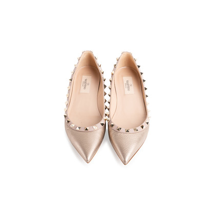 Authentic Second Hand Valentino Rockstud Flats (PSS-A12-00007)