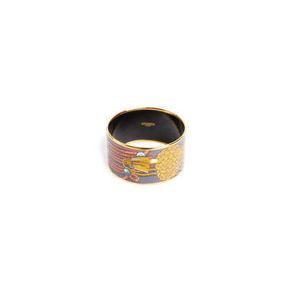 Authentic Second Hand Hermès Brandebourg Enamel Bangle (PSS-A12-00013)