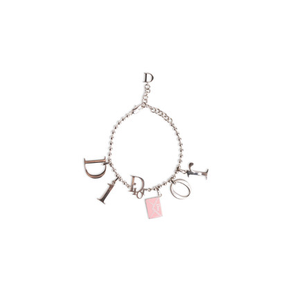 Authentic Second Hand Christian Dior Logo Charm Bracelet (PSS-A12-00019)