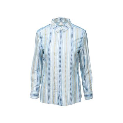 Authentic Second Hand Hermès Pattern Stripe Silk Shirt (PSS-990-00191)
