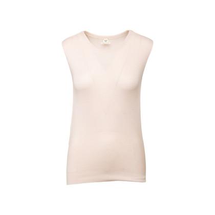 Authentic Second Hand Hermès Cotton Silk Knit Drape Top (PSS-990-00192)