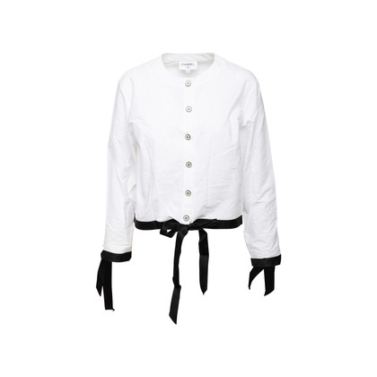 Authentic Second Hand Chanel Bow Detail Coco Blouse (PSS-990-00180)