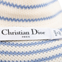Authentic Second Hand Christian Dior Striped Knit Crest Top (PSS-990-00165) - Thumbnail 2