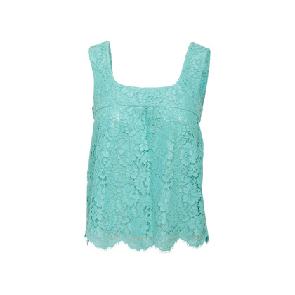 Authentic Second Hand Chanel Lace Sleeveless Blouse (PSS-990-00201)