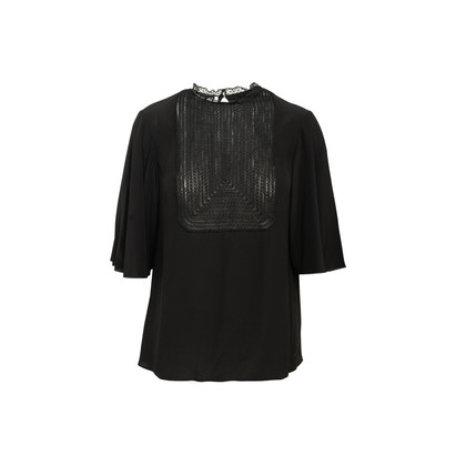 Authentic Second Hand Valentino Lace Bib Blouse (PSS-990-00225)
