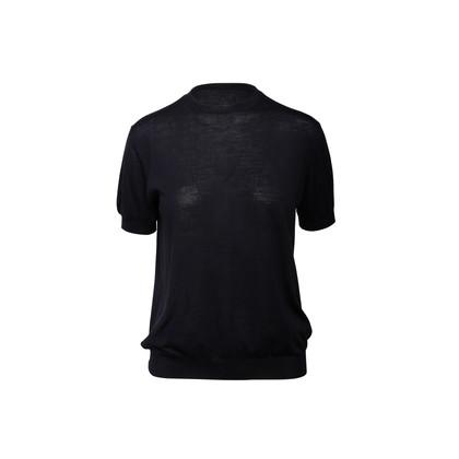 Authentic Second Hand Prada Short Sleeve Virgin Wool Sweater (PSS-990-00229)