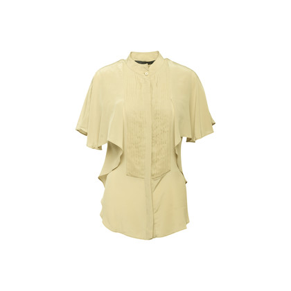 Authentic Second Hand Elie Saab Pleated Silk Shirt (PSS-356-00264)