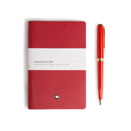 Authentic Second Hand Montblanc Notebook and Pen Set (PSS-A20-00007)