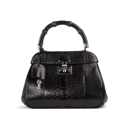 Authentic Second Hand Gucci Lady Lock Python Tote (PSS-A17-00002)