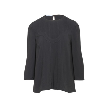 Authentic Second Hand Prada Pleated Detail Blouse (PSS-866-00032)