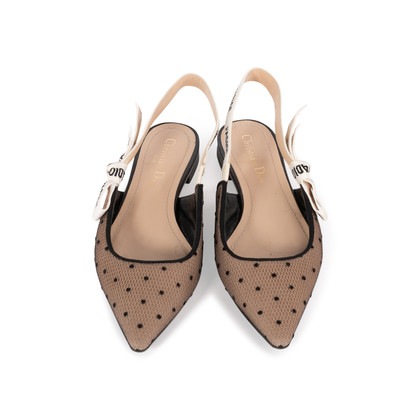 Authentic Second Hand Christian Dior J'adior Dotted Slingback Flats  (PSS-355-00091)
