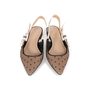 Authentic Second Hand Christian Dior J'adior Dotted Slingback Flats  (PSS-355-00091) - Thumbnail 0