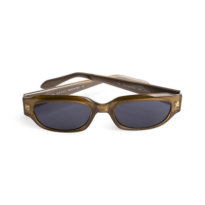 Authentic Second Hand Gucci Rectangle Acetate Sunglasses (PSS-A13-00006)