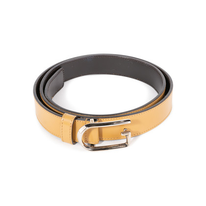 Authentic Second Hand Gucci Leather Skinny Belt (PSS-A13-00009)