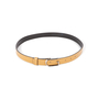 Authentic Second Hand Gucci Leather Skinny Belt (PSS-A13-00009) - Thumbnail 1