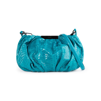 Authentic Second Hand Ling Wu Bubble 12 Python Bag (PSS-056-00043)