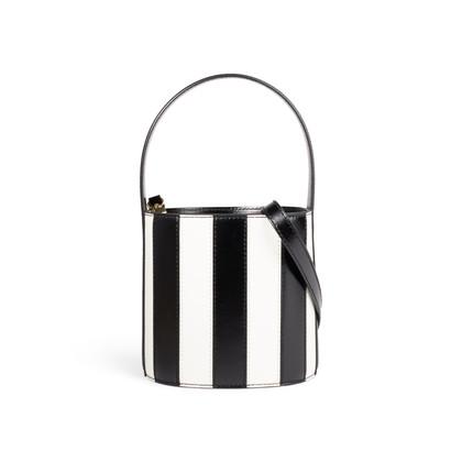Authentic Second Hand Staud Bissett Stripe Bucket Bag (PSS-A19-00043)