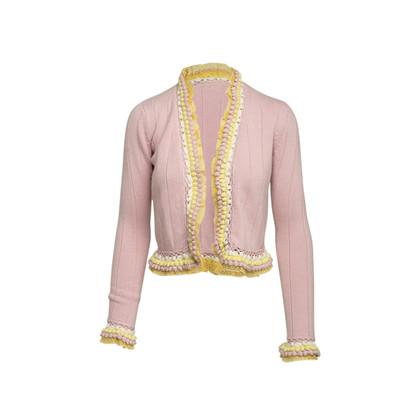 Authentic Second Hand Chanel Pom Pom Cashmere Cardigan (PSS-575-00104)
