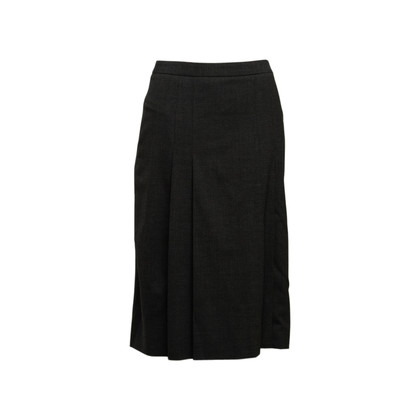 Authentic Second Hand Céline Pleated Wool Skirt (PSS-575-00109)