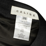 Authentic Second Hand Céline Pleated Wool Skirt (PSS-575-00109) - Thumbnail 2