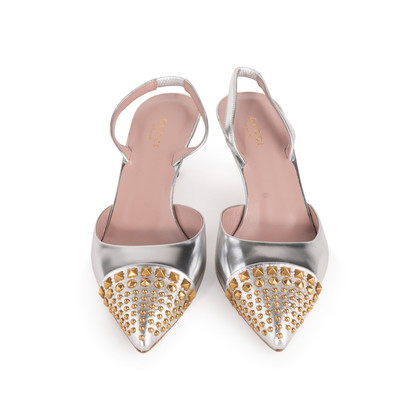 Authentic Second Hand Gucci Studded Slingback Sandals (PSS-A23-00011)