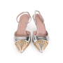 Authentic Second Hand Gucci Studded Slingback Sandals (PSS-A23-00011) - Thumbnail 0