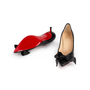 Authentic Second Hand Christian Louboutin Pointed Bow Front Pumps (PSS-A23-00014) - Thumbnail 5