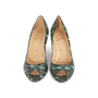 Authentic Second Hand Christian Louboutin You You Python Peep Toe Pumps (PSS-A23-00021) - Thumbnail 0