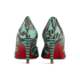 Authentic Second Hand Christian Louboutin You You Python Peep Toe Pumps (PSS-A23-00021) - Thumbnail 2
