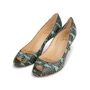 Authentic Second Hand Christian Louboutin You You Python Peep Toe Pumps (PSS-A23-00021) - Thumbnail 3