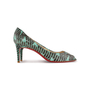 Authentic Second Hand Christian Louboutin You You Python Peep Toe Pumps (PSS-A23-00021) - Thumbnail 1