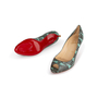 Authentic Second Hand Christian Louboutin You You Python Peep Toe Pumps (PSS-A23-00021) - Thumbnail 5