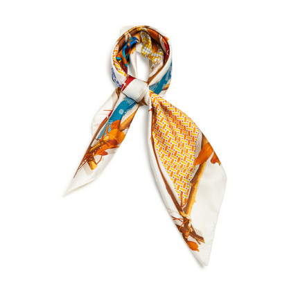 Authentic Second Hand Hermès Le Robinson Chic 90 Scarf (PSS-852-00038)